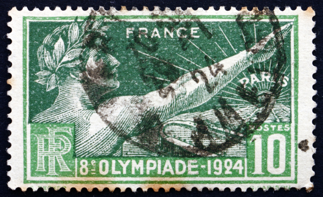 A commemorative stamp for the 1900 Olympics