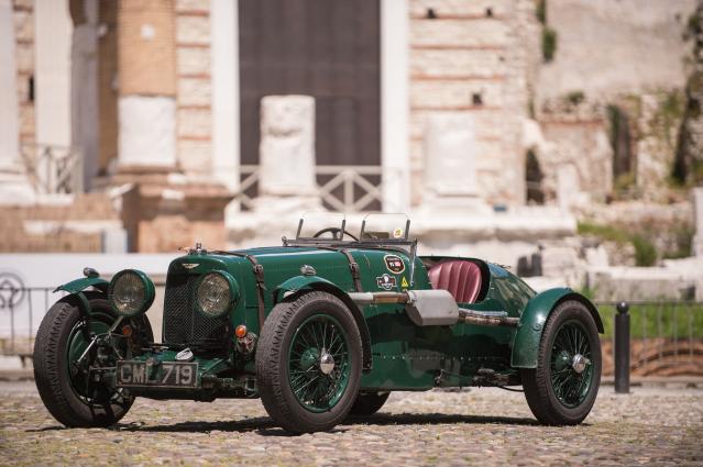 A 1935 Aston Martin Ulster in British racing green