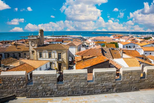Provencal city Saintes Maries de la Mer