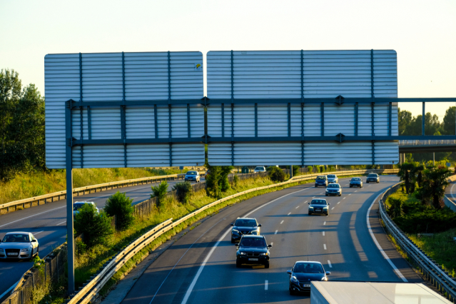 Section of the AP-7 highway in Spain