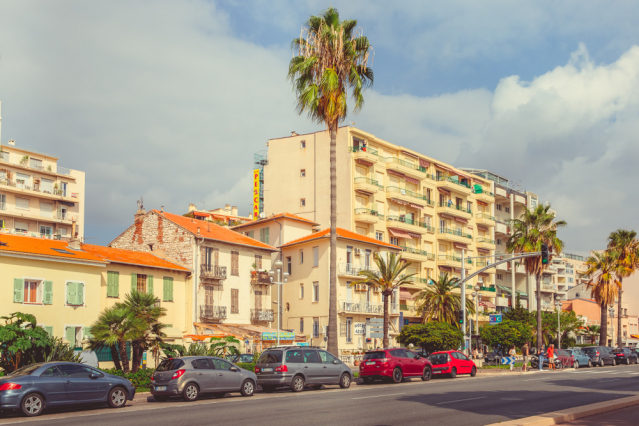 Traffic on Promenade des Anglais in Nice