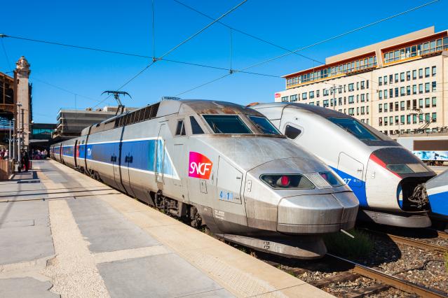 TGV intercity high-speed train at Marseille railway station