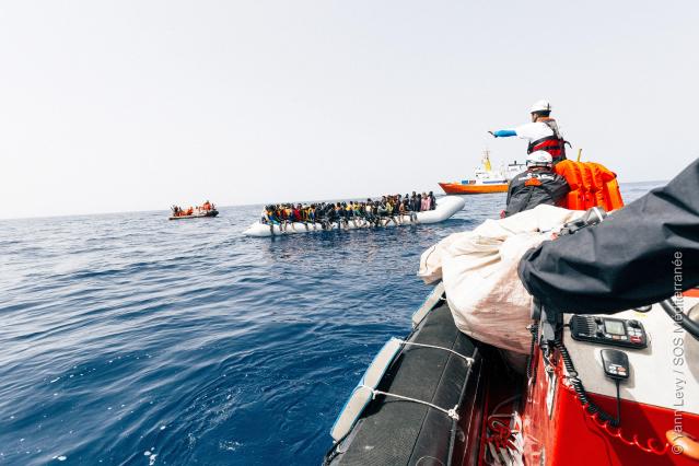 SOS Mediterranee saving migrants