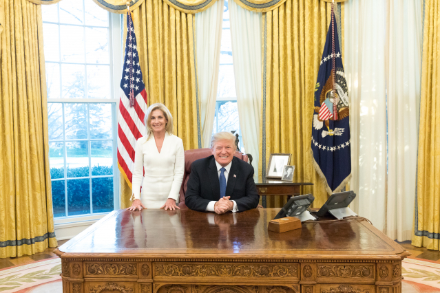 The US Ambassador to France with US President Donald Trump. US Embassy / Sylvain de Gelder