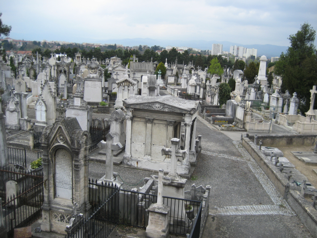 General view of a cemetery in France