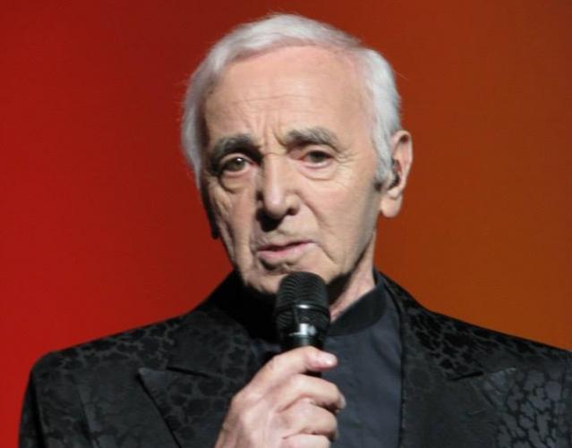 French Armenian singer Charles Aznavour