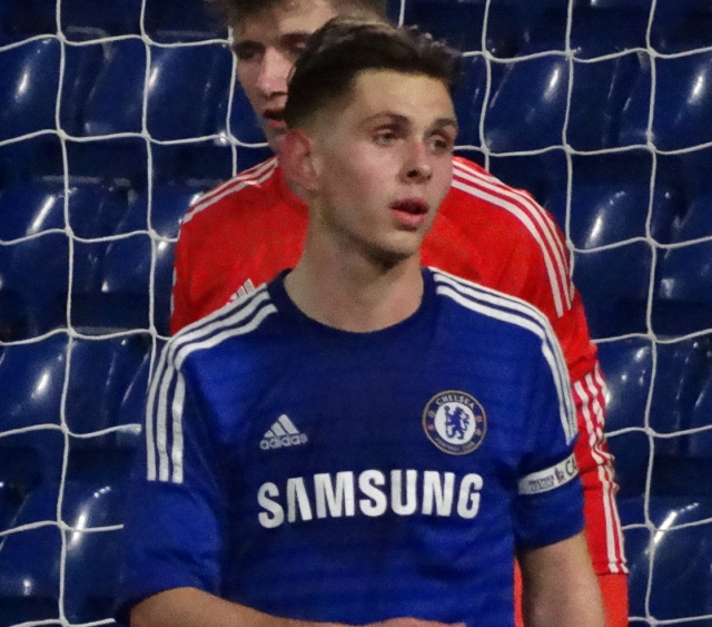 Young Chelsea player Charlie Colkett in 2015