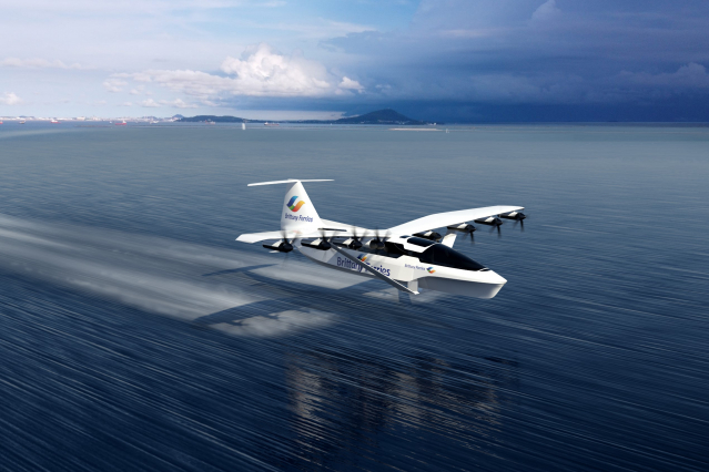 Artist's impression of a Brittany Ferries Seaglider flying ferry