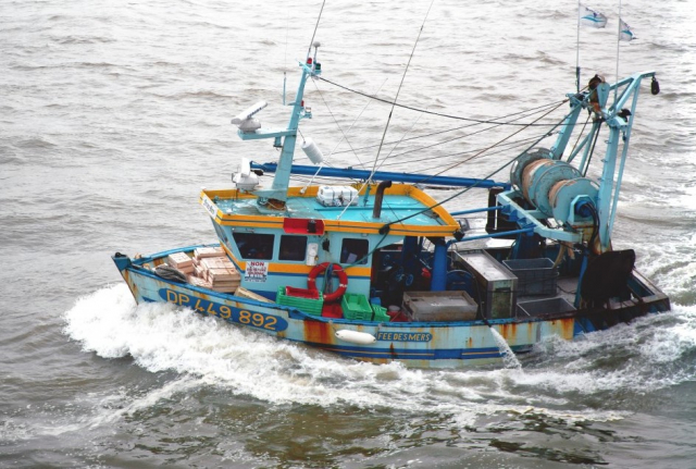 A French fishing boat at sea