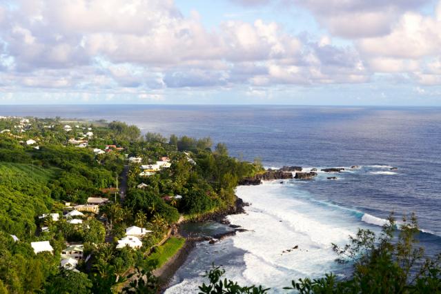 An aerial view of La Réunion