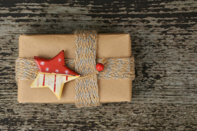 A parcel in brown paper