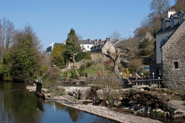 Riverside village in Finistère