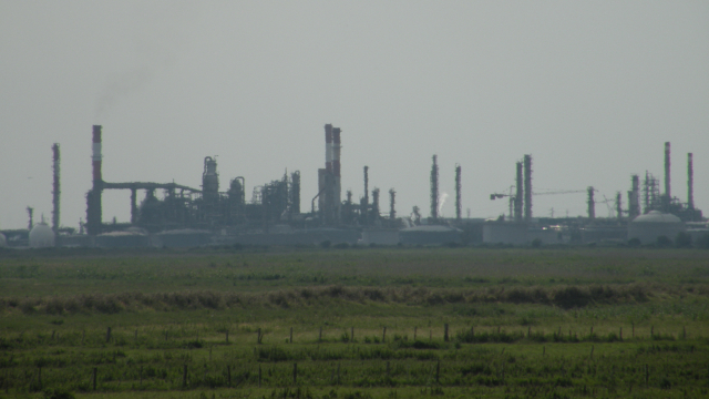 The oil refinery at Donges, Loire-Atlantique
