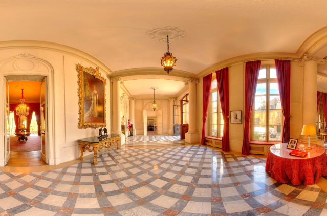 The beautiful lobby area at the British Ambassador's residence
