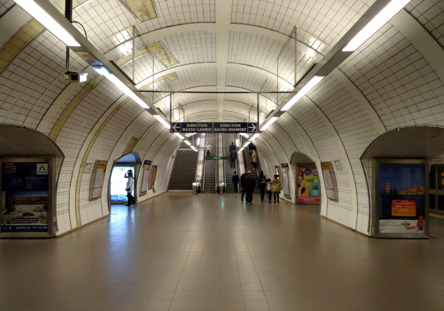 Toulouse Capitole Metro Station concourse