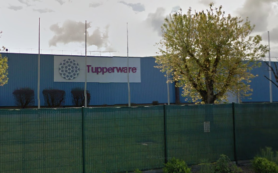 Outside view of Tupperware factory in Indre-et-Loire