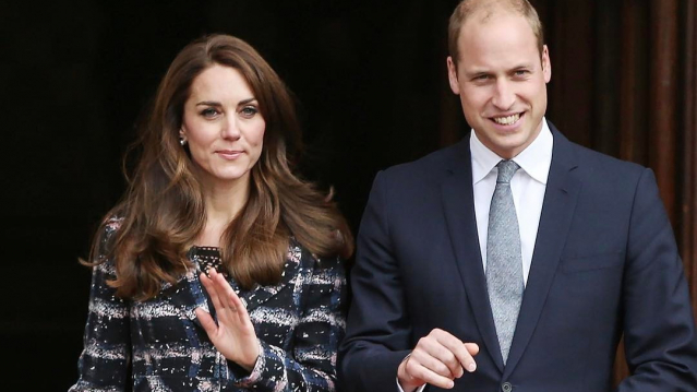 The Duke and Duchess of Cambridge side by side looking confident