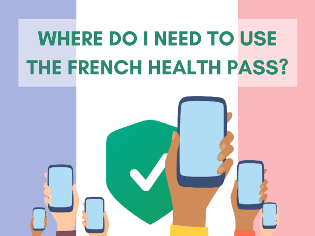 Image asking where do I need to use the Covid health pass in France
