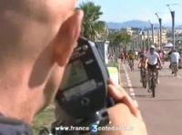 Police in action on the Prom at Cagnes-sur-Mer - Screengrab: France 3