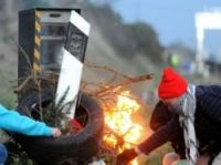 A speed camera at Jugon-les-Lacs is set on fire - Photo: JEAN-FRANCOIS MONIER - AFP