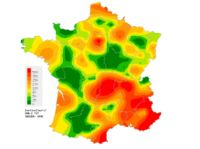 Flu map from Sentinelles GP network