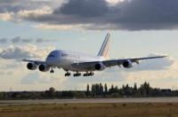 The A380 touches down in Paris