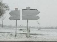 Snow in Basse-Normandie today - Photo: A Huctin, France 3 Basse-Normandie