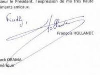 Commenters wondered if no one speaks English in Hollande's office