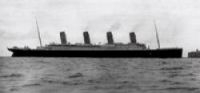 The Titanic at Cherbourg – four days later she had sunk.