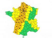Météo France has put 32 departments on orange alert for storms today