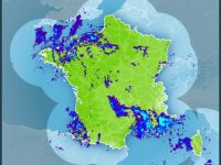 Rainstorm radar shows storms across south-east – Graphic: Meteo France