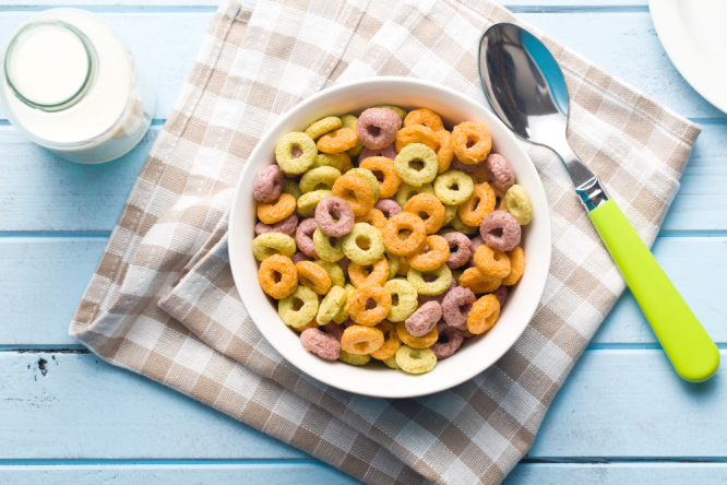 A bowl of breakfast cereal. Concern over levels of heavy metals found in 97% of people in France