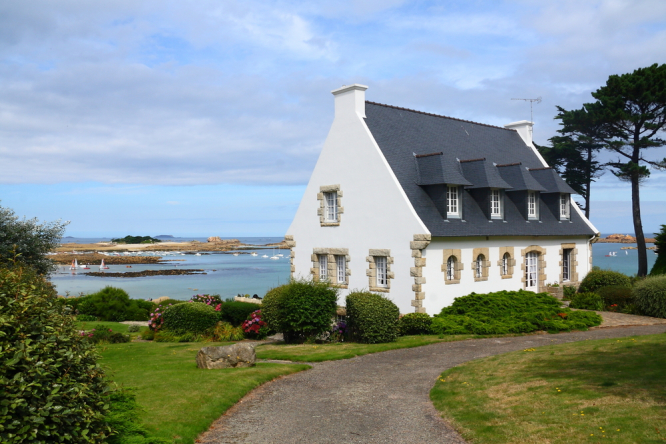 A country house in Brittany. 9-15% house price rises in year in Ile-de-France and west France