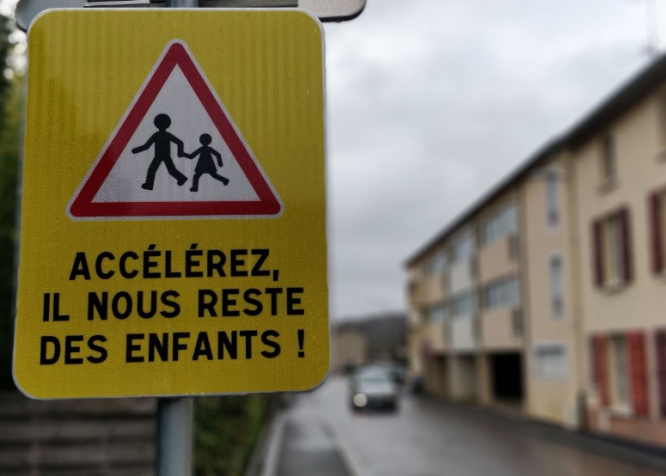 French Town Installs Shock School Warning Road Signs