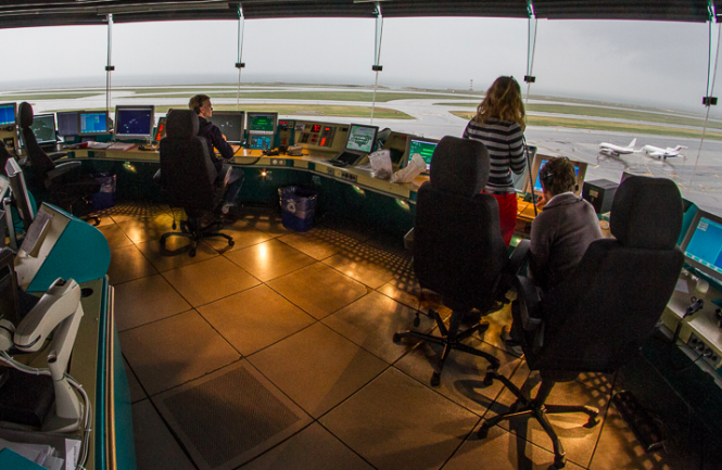Inside the air control tower at Nice airport. French air controllers still getting overtime bonuses even though planes are grounded due to the Covid-19 pandemic