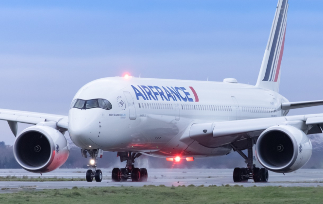 An Air France plane on the airport tarmac. Covid France: Four more countries added to quarantine-on-arrival list