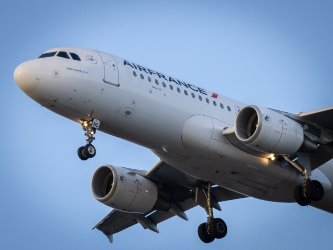 An Air France plane takes off. IATA boss Alexandre de Juniac has predicted the future of air travel after Covid-19