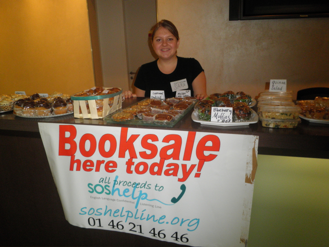 A photo of SOS Help's charity book fair fundraiser which was cancelled this year due to the coronavirus.