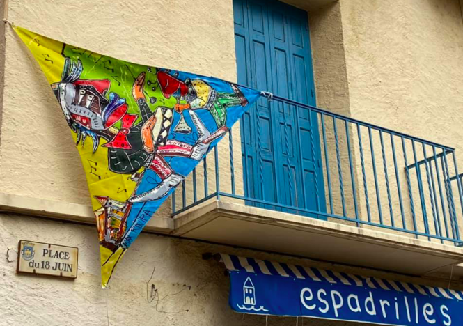 Art by Max Rovira on display in Collioure. French town holds outside exhibit while galleries are closed