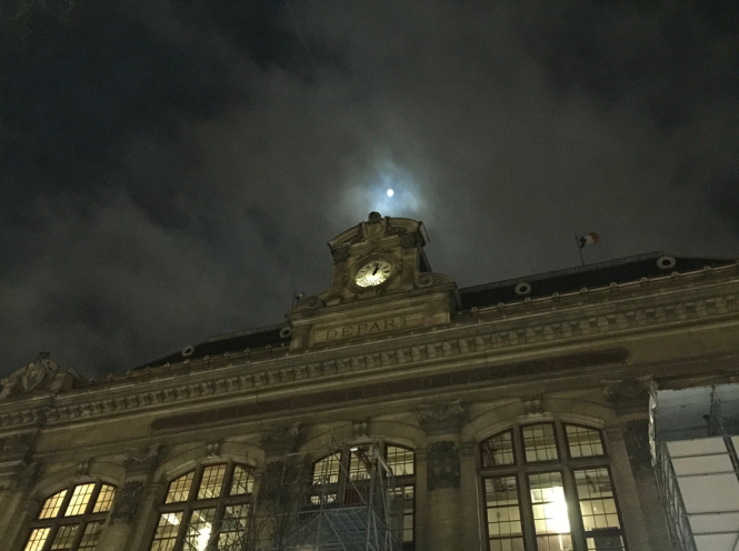 The Gare d'Austerlitz in Paris at night. Paris-Nice night train restarts with PM onboard for first trip