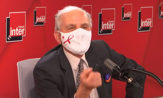 A screenshot of Professor Axel Kahn speaking on France Inter. President of French anti-cancer league Professor Axel Kahn steps down due to cancer diagnosis