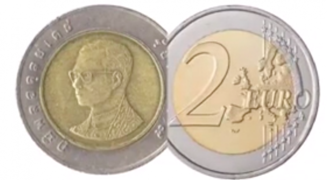 Baht Which Looks Just Like 2 Circulating