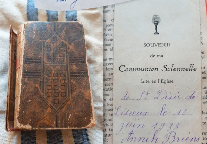 The bible and communion note. Found! French family of World War Two mystery Bible owner