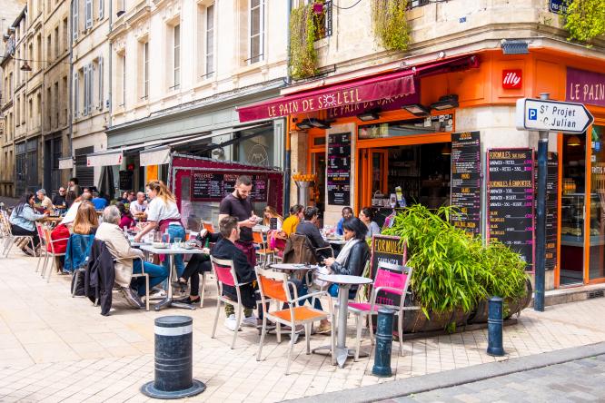 A café in Bordeaux