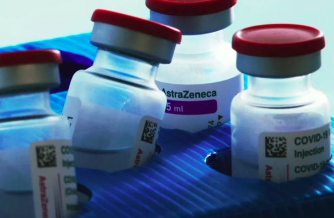 Bottles of AstraZeneca vaccine. Inquiry into death of student who had Covid jab in Nantes
