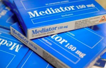 A box of the drug Mediator. Producers of the drug are currently on trial in France as it is thought to have caused the death of hundreds of people.