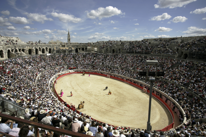 The bullfighting ring in Nîmes. Animal rights group's bid to ban bullfighting in south of France fails