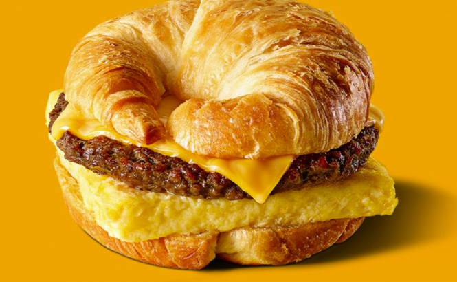 "The Croissan'wich ""burger"" with a croissant instead of bread. France is outraged as Burger King launches the 'Croissan'wich'."
