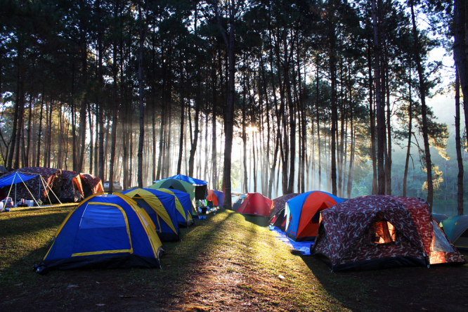 A camp site in France