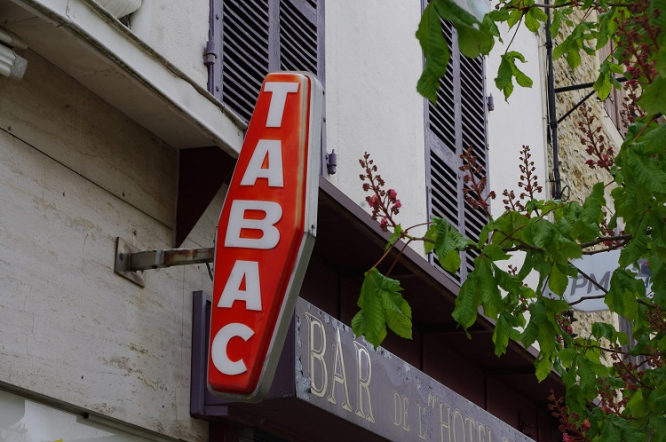 A tabac shop. New laws and changes in France: July 2020